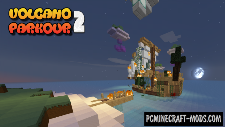 Volcano Parkour 2 Map For Minecraft