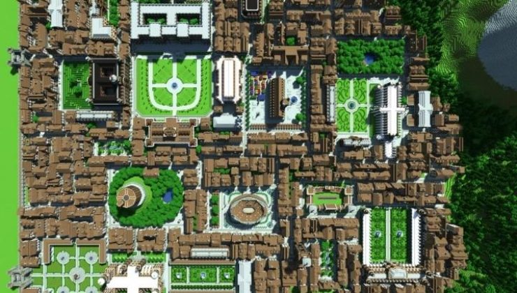 City of Thrair Map For Minecraft