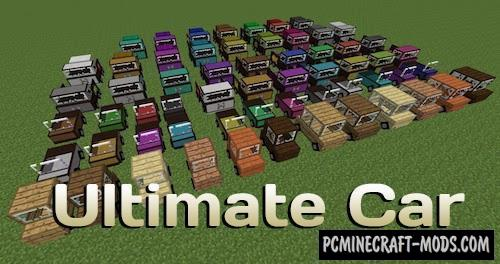 Ultimate Car - Vehicles Mod For MC 1.16.5, 1.16.4, 1.12.2