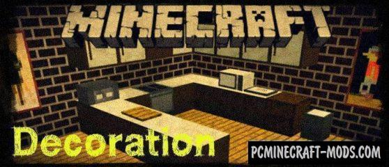 More Decoration Items Minecraft BE & PE Mod 1.4.0, 1.2.16, 1.2.13