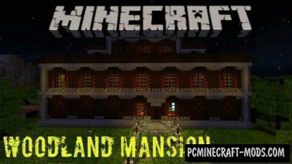 Redstone Woodland Mansion Minecraft BE Map 1.2.7, 1.2.6