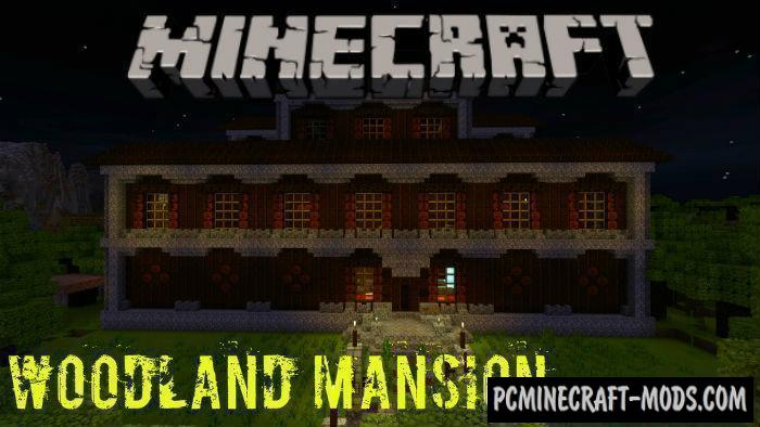 Redstone Woodland Mansion Minecraft BE Map 1.5.0, 1.4.0