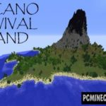 Volcanic Island Survival Map For Minecraft