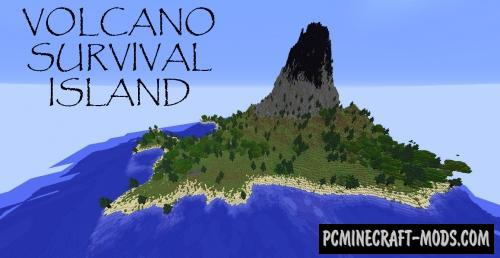 Volcano Survival Island Map For Minecraft