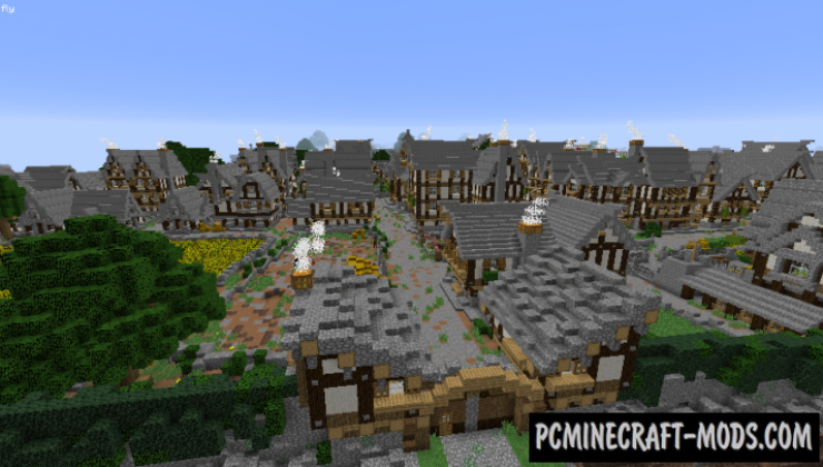 Bree Town Map For Minecraft