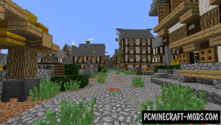 Bree Town Map For Minecraft 1.15, 1.14.4 | PC Java Mods