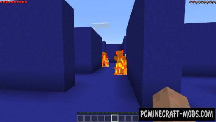 3D Pacman Mini-Game Minecraft Bedrock Map 1.2.7, 1.2.6