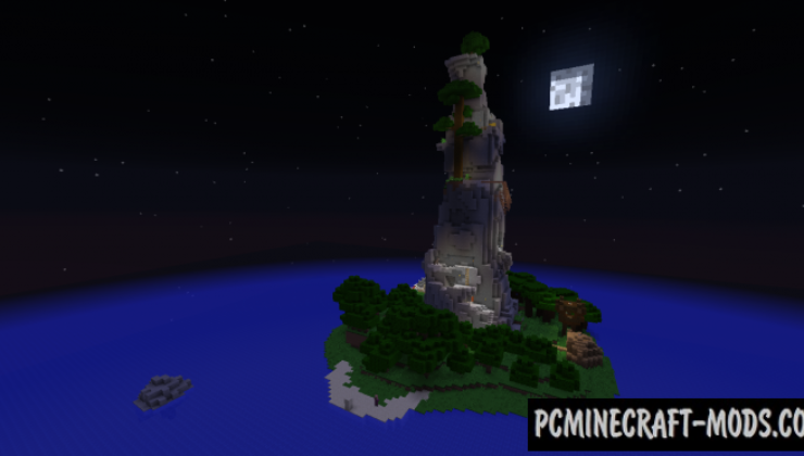 Mountain Island Map For Minecraft