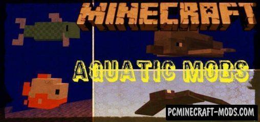 Update Aquatic Mobs 1.4/1.3 Minecraft PE Bedrock Mod 1.9.0, 1.7.0