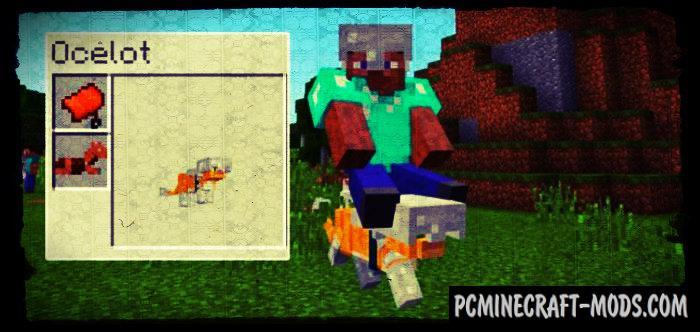 Armored Ocelot Minecraft PE Bedrock Addon 1.9.0, 1.7.0