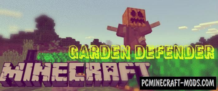 Garden Defender Minecraft PE Bedrock Mod/Addon 1.4.0, 1.2.13