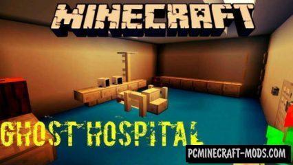 Ghost Hospital Minecraft PE Bedrock Map 1.2.7, 1.2.6
