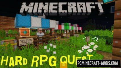Hard RPG Quest Minecraft PE Bedrock Map 1.3.0, 1.2.11, 1.2.10