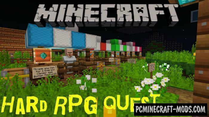 Hard RPG Quest Minecraft PE Bedrock Map 1.4.0, 1.3.0, 1.2.13
