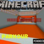 Ice Road of Parkour Minecraft PE Bedrock Map 1.2.7, 1.2.6