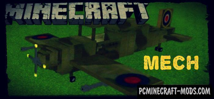 Mech Minecraft PE Bedrock Mod 1.2.7, 1.2.6, 1.2.0
