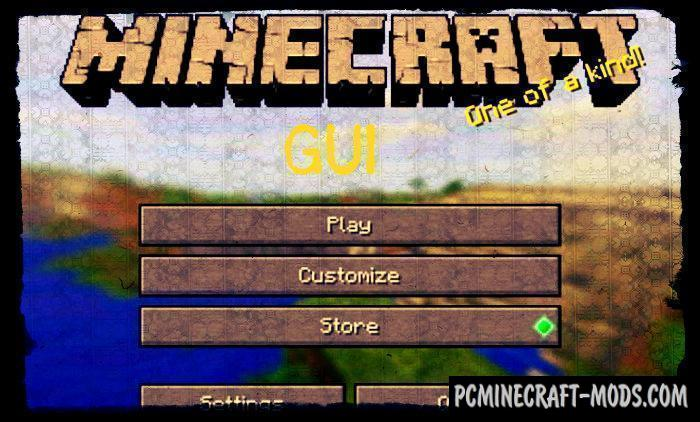 PC GUI Windows 10 Minecraft PE Bedrock Mod 1.9.0, 1.8.0, 1.7.0
