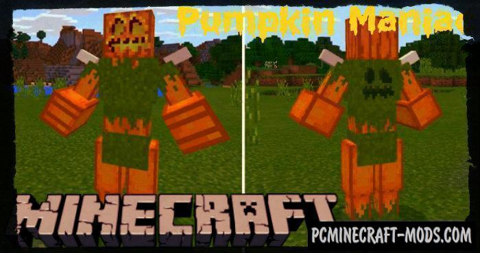Pumpkin Maniac Minecraft Bedrock Edition Mod 1.6.0, 1.5.3