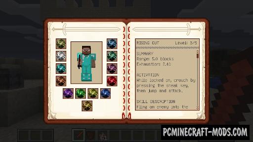 Dynamic Sword Skills Mod For Minecraft 1.12.2, 1.11.2, 1.10.2, 1.7.10