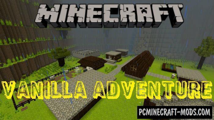 Vanilla Adventure Minecraft PE Bedrock Map 1.2.7, 1.2.6
