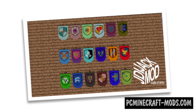 JJ Coats of Arms Mod For Minecraft 1.12.2, 1.10.2