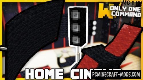 Home Cinema Gear Command Block For Minecraft 1.12.2