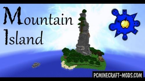 Mountain Island Map For Minecraft 1 15, 1 14 4 | PC Java Mods