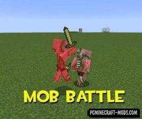 Mob Battle Mod For Minecraft 1.12.2, 1.11.2, 1.10.2, 1.7.10