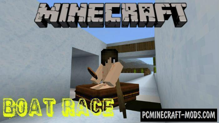 Boat Race - Minigame Map For Minecraft PE 1.4.0, 1.2.13