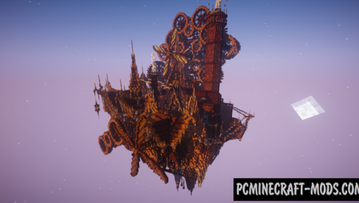 Industrial Floating City Map For Minecraft