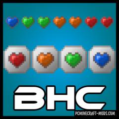 Baubley Heart Canisters - Armor Mod Minecraft 1.17.1, 1.16.5, 1.12.2