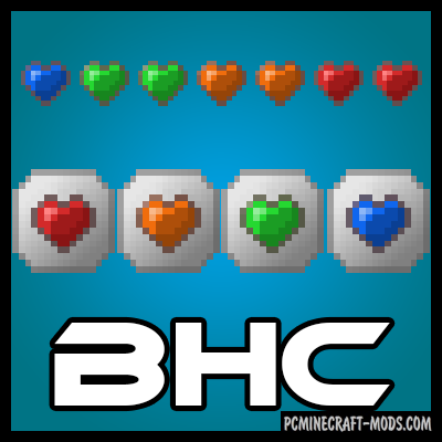 Baubley Heart Canisters - Armor Mod Minecraft 1.16.5, 1.12.2