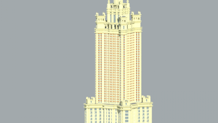 Administrative building in Zaryadye Map For Minecraft