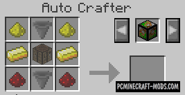 Auto Crafter - Custom Recipes Editor Mod For Minecraft 1.12.2