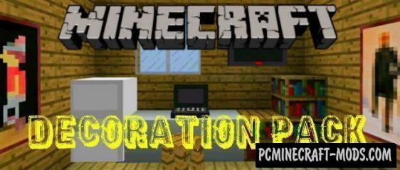 Decoration Pack Minecraft PE Bedrock Addon / Mod 1.11, 1.10, 1.9.0