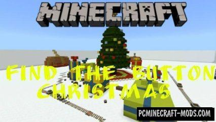 Find the Button Christmas Minecraft PE Bedrock Map 1.2.7, 1.2.6