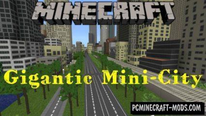 Gigantic Mini-City Minecraft PE Bedrock Map 1.2.11, 1.2.10