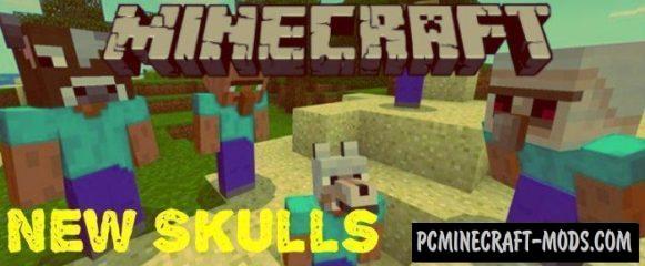 New Skulls Minecraft PE Bedrock Addon 1.9.0, 1.8.0, 1.7.0