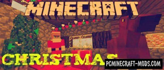 New Year 2018 Christmas Minecraft PE Addon/Mod 1.2.9, 1.2.8