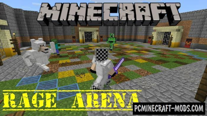 Rage Arena - PvE Arena Map For Minecraft PE 1.4.0, 1.2.13