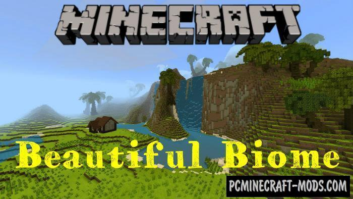 Realistic and Beautiful Biome - Surv Terrain MCPE Map 1.4