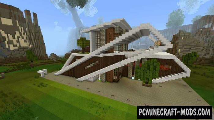 Super Smart House Minecraft PE Bedrock Map 1.5.0, 1.4.0
