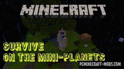 Survive on the Mini-Planets MCPE Bedrock Map 1.2.7, 1.2.6