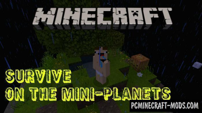 Survive on the Mini-Planets MCPE Bedrock Map 1.5.0, 1.4.0