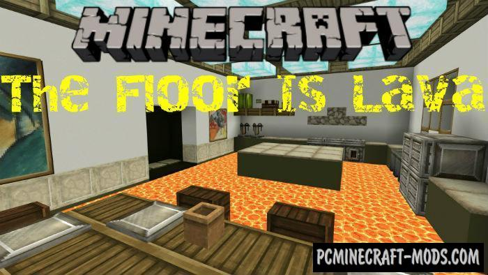 The Floor Is Lava: Rooms - Parkour Minecraft PE Map 1.5.0