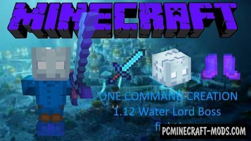 Water Lord Boss Command Block For Minecraft 1.12.2