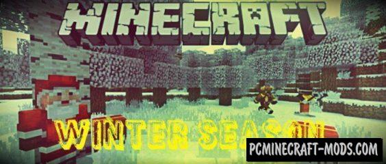 Winter Season Minecraft PE Bedrock Mod 1.6.0, 1.5.3