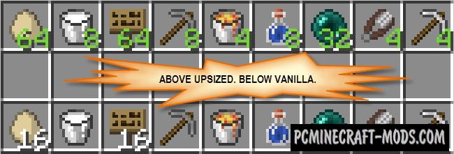 Upsizer - Inventory Tweak Mod For Minecraft 1.16.5, 1.12.2