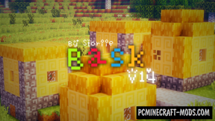 Bask Pixel Resource Pack For Minecraft 1.9, 1.8.9, 1.7.10
