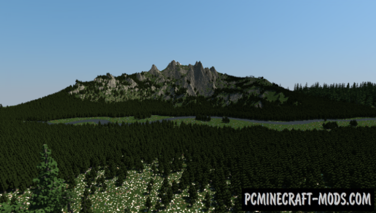 Beautiful Mountains - Surv Terrain Map For Minecraft